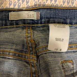 Levi jeans  size 10 S super soft boot cut 515